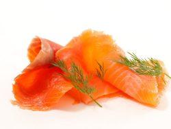 recortes de salmón ahumado