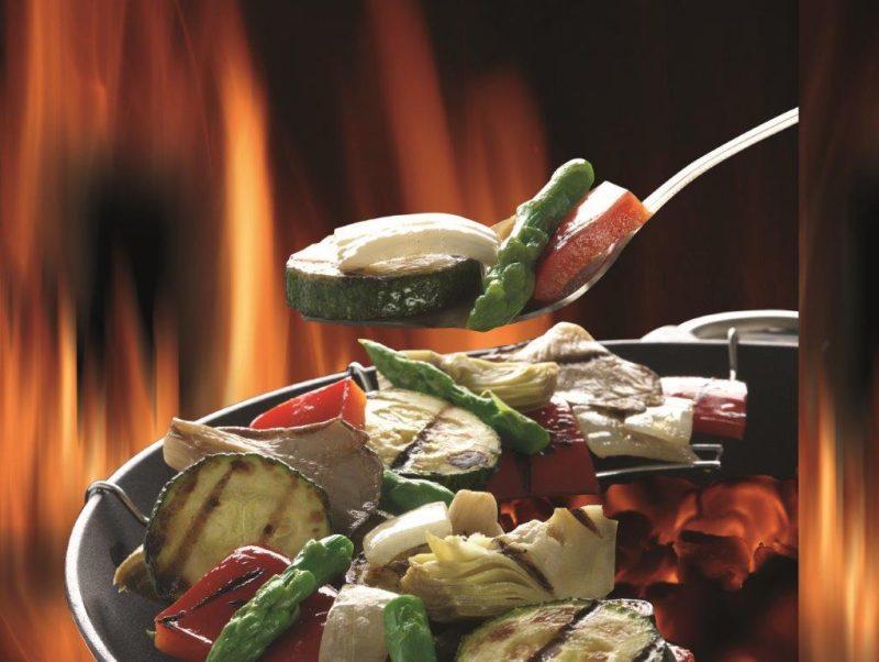 parrillada de verduras con alcachofas