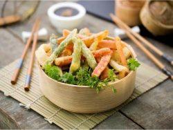 verduritas en tempura