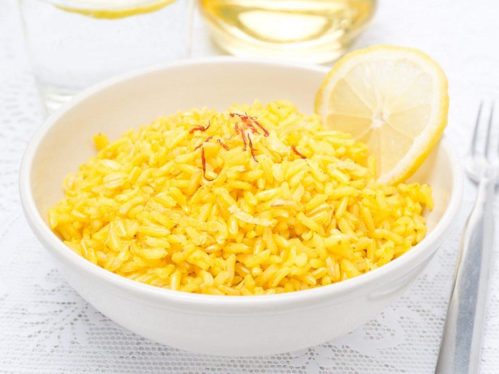 arroz con azafrán