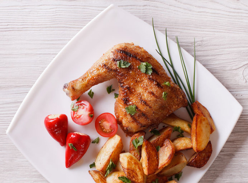receta de cuartos de pollo al horno