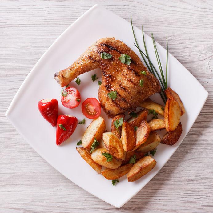 receta de cuarto de pollo