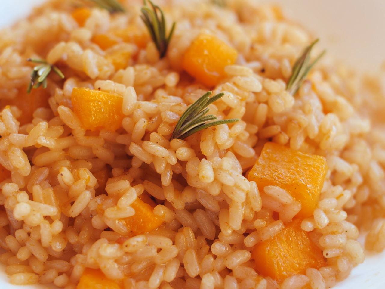 risotto con calabaza