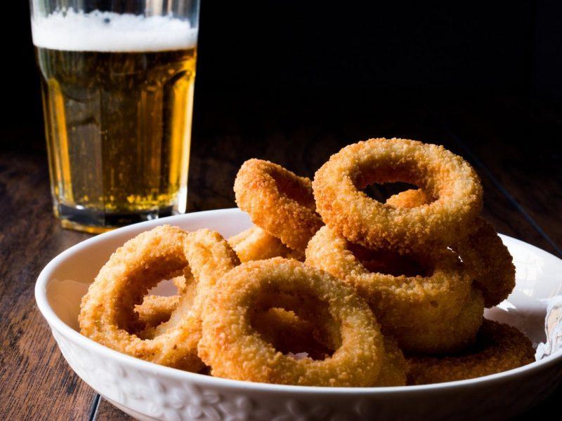 Aros de cebolla a la cerveza