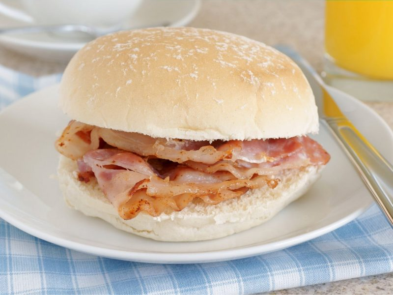 bacon cocido