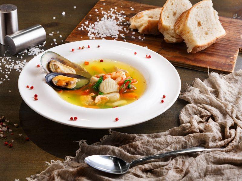 preparado de mariscos media concha
